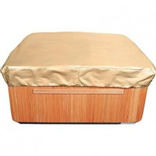 Budge All-Seasons Square Hot Tub Cover, Large (Tan)