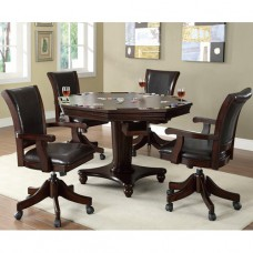 Bar Tables 5 Piece Game Table & Upholstered Chair Set
