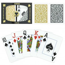 Copag 100% Plastic Poker Jumbo Card Double Deck Gold and Gray