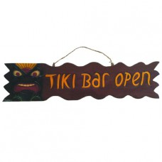 TIKI BAR OPEN SIGN
