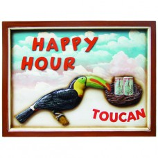 HAPPY HOUR TOUCAN WALL SIGN