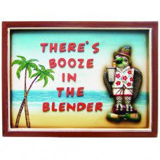 BOOZE IN THE BLENDER Wall Sign