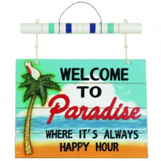 WELCOME TO PARADISE Wall Sign