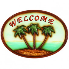 WELCOME PALM TREE Wall Sign