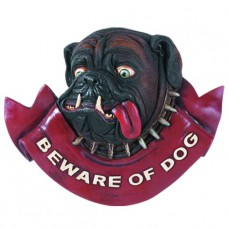 BEWARE OF DOG Wall Sign