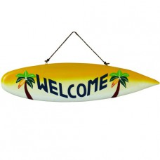 WELCOME SURFBOARD Wall Sign