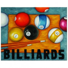 OIL PAINTING-BILLIARDS Wall Sign