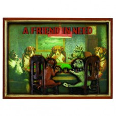 PUB SIGN-POKER DOGS-A FRIEND IN NEED Wall Sign