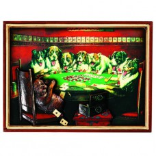 PUB SIGN-POKER DOGS-CARDS UNDER TABLE Wall Sign