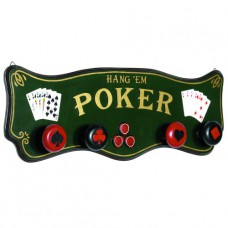 PUB SIGN-POKER COAT RACK