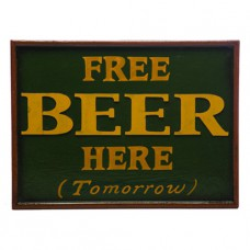 FREE BEER Wall Sign