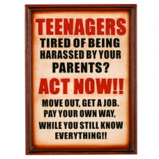 TEENAGERS Wall Sign