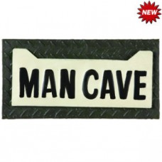 METAL-SIGN-MAN CAVE LICENSE PLATE