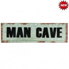 METAL SIGN-21″ MAN CAVE W/ LIGHTS Wall Sign