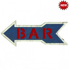 METAL SIGN-BAR ARROW (BLUE) Wall Sign