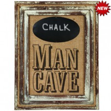 MAN CAVE W/ CHALKBOARD Sign