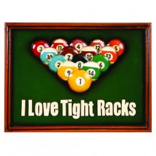 I LOVE TIGHT RACKS WALL SIGN
