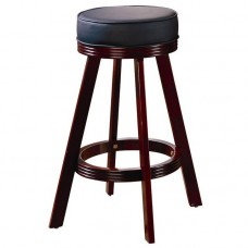 Mitchell Upholstered Bar Stool in Cherry Finish