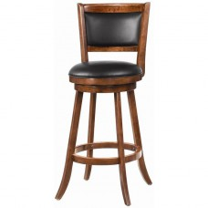 Coaster Swivel Bar Stool, Dark Espresso, 29""