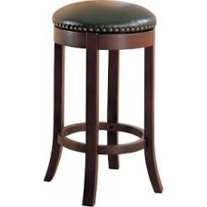 "Coaster 29"" Swivel Bar Stool in Brown and Black"
