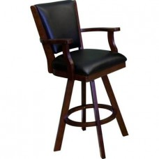 Level Best Barstool,Bar Stools,Solid Maple Wood, Leatherette, by C.L Bailey