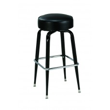 Backless Barstool with Squared Metal Legs