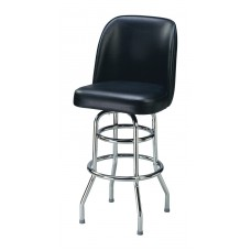 Captain Chair Barstool with Double-rung Metal Legs