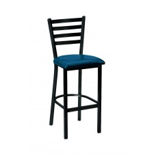 Ladder Back Barstool with Metal Legs