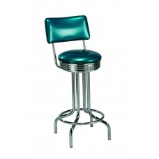 Padded Back Barstools with Metal Legs