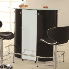 Contemporary Bar Unit with Frosted Glass Top