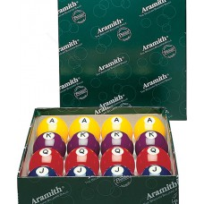 "Aramith Poker Set of 2-1/4"" Balls with Letters and Numbers"