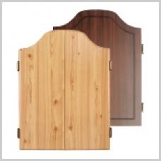 Oak or Rosewood Deluxe Dartboard Cabinet