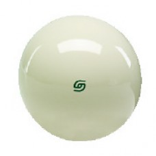 "Aramith 2-1/8"" Cue Ball with green logo"