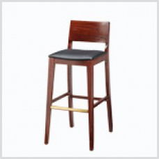Scandinavian Barstool with Wooden Legs