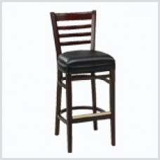Ladder Back Barstool with Wooden Legs