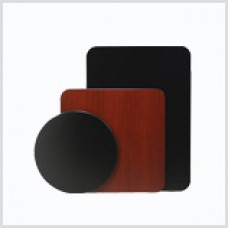 Two-sided Mahogany/Black Laminate Tabletops