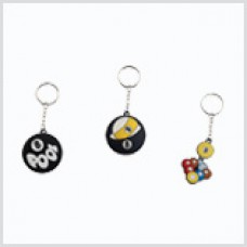 Billiard Art Key Chains