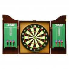 CABSET2010 DMI Recreational Dartboard Cabinet Rosewood