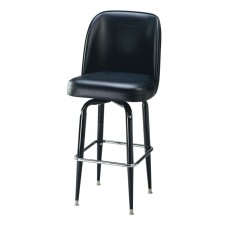 Captain Chair Barstool with Squared Metal Legs