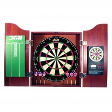 Cherry Dartboard Cabinet with Electronic Scorer
