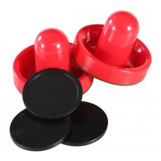 Replacement Air Hockey Strikers + Pucks Combo Pack