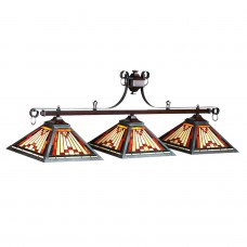 Laredo stained glass 3 light fixture