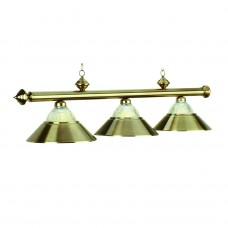 Metallic & Halophane metal 3 light fixture