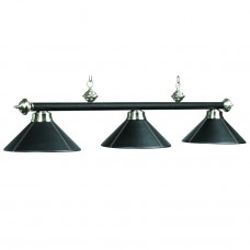 The look of leather metal 3 light fixture