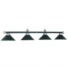 Metallic & Halophane metal 4 light fixture