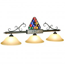 BIL-B56 glass 3 light fixture