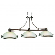 Cosmopolitan glass 3 light fixture