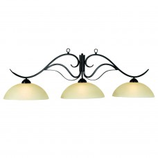 Monaco glass 3 light fixture