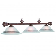 Corda glass 3 light fixture