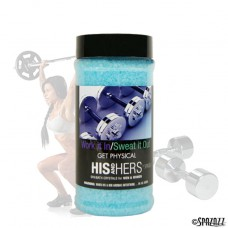 Spazazz His & Hers Work It In - Sweat It Out (Let's Get Physical) Crystals